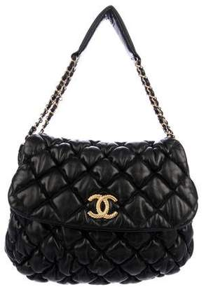 Chanel Bubble Quilt Hobo Flap Bag