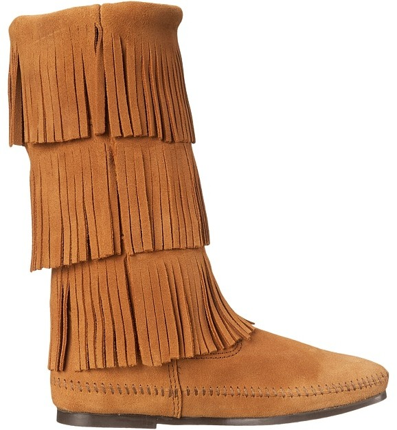Minnetonka - Calf Hi 3-Layer Fringe Boot Women's Pull-on Boots 19