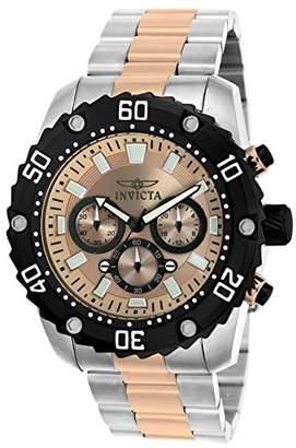 Invicta 22520 Pro Diver Men's Wrist Watch Stainless Steel Quartz Rose Gold Dial