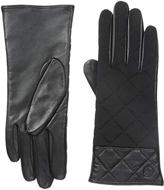 Adrienne Vittadini Women's Leather and Spandex Gloves with Cashmere Lining
