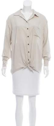 PJK Patterson J. Kincaid Collared Button-Up Top