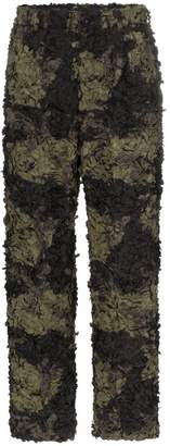 Comme des Garcons Embroidered camouflage trousers