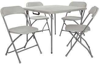 Office Star Resin 5-Piece Folding Chair and Table Set