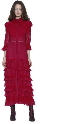 Alice + Olivia Carmina Pleated Cocktail Dress