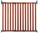 日本育児 木製ゲイト・バリアフリー ブラウン 約幅76.3~112cmx奥行き4.5×高さ91cm(補助板含む) 6330002001 6ヶ月~24ヶ月対象 階段上取り付け可能な木製ゲート