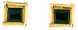 Chanel Gripoix Square Clip-On Earrings