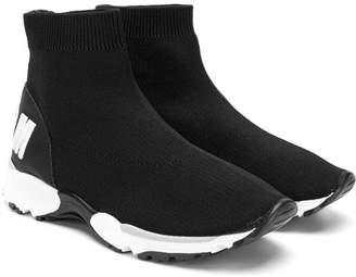 MSGM Kids logo sock sneakers