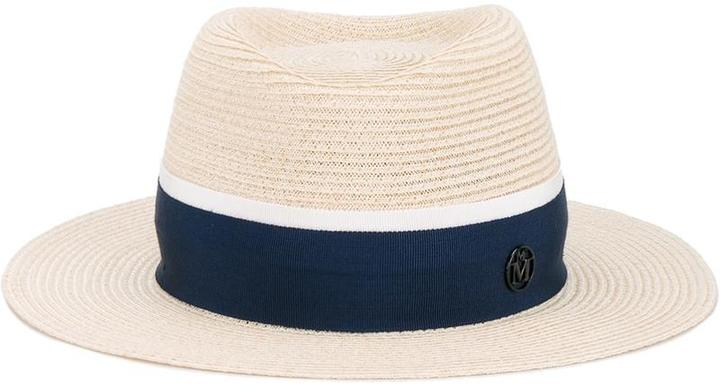Maison Michel 'Andre' hat with grosgrain band