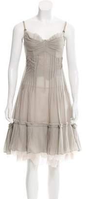 Angelos Frentzos Silk-Blend Midi Dress
