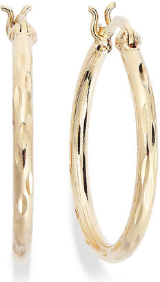 Giani Bernini Diamond-Cut Hoop Earrings in 18k Gold over Sterling Silver, Created for Macy's