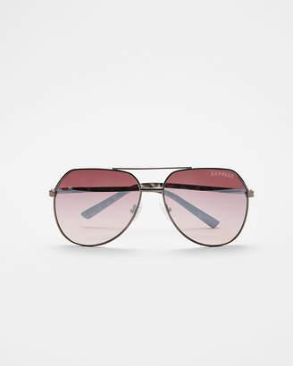 Express Gunmetal Aviator Sunglasses