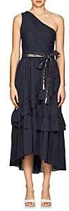 Ulla Johnson Women's Amber Striped Cotton One-Shoulder Dress - Navy
