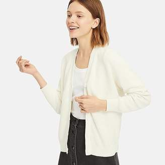 Uniqlo Women's Cotton Cashmere V-Neck Cardigan
