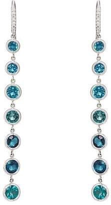Finn Women's Tourmaline Cascade Earrings - Gold