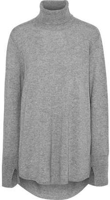 Halston Open-Back Wool And Cashmere-Blend Turtleneck Sweater