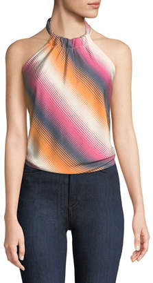Trina Turk Tamika Halter Top in Serape Stripes