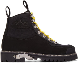 Off-White Black Cordura Hiking Boots $685 thestylecure.com
