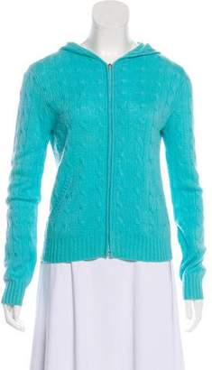 Ralph Lauren Black Label Cable Knit Zip-Up Sweater