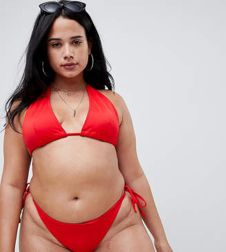 Asos DESIGN Curve recycled Triangle Bikini Top