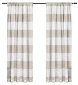 Home Outfitters Set of 2 96In Exclusive Home Darma Rod Pocket Curtain Panels