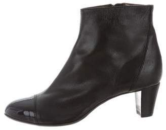 AGL Leather Cap-Toe Ankle Boots