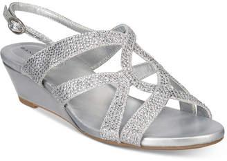 Bandolino Gomeisa Embellished Wedge Sandals $69 thestylecure.com