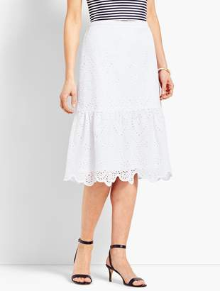 1ef1adf9936 Talbots Eyelet Fit-and-Flare Skirt