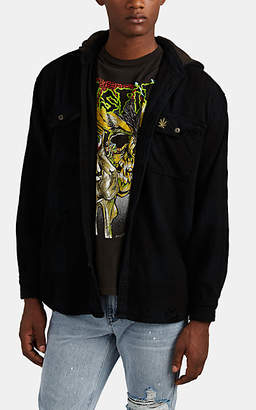 Madeworn Men's Snoop Dogg Cotton Hooded Shirt Jacket - Black