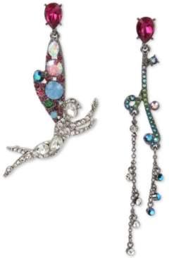 Betsey Johnson Two-Tone Crystal Fairy Mismatch Drop Earrings