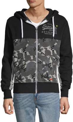 Superdry Camouflage-Print Cotton Blend Jacket