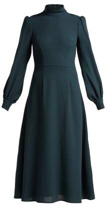 Goat Goldfinch Wool Crepe Dress - Womens - Dark Blue