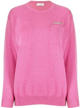 Brunello Cucinelli metal bead cashmere sweater