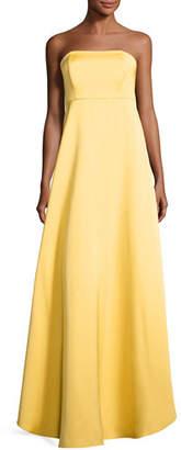 ZAC Zac Posen Tegan Strapless Satin Gown, Mimosa $1,190 thestylecure.com