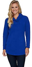 Denim & Co. Shawl Collar Long Sleeve Tunicwith Pockets