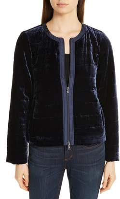 Eileen Fisher Quilted Velvet Jacket