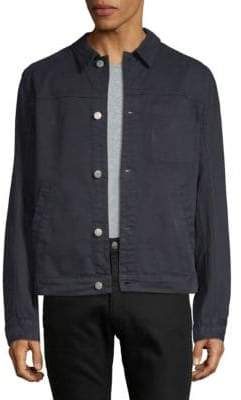 Helmut Lang Distressed Long-Sleeve Denim Jacket