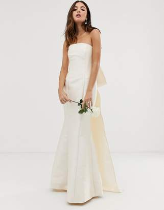 Asos Edition EDITION bow back bandeau wedding dress