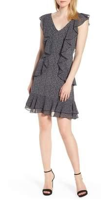 MICHAEL Michael Kors Leopard Cascade Mini Dress