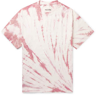 story. Mfg. Grateful Printed Tie-Dyed Organic Cotton-Jersey T-Shirt