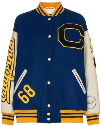 Calvin Klein contrast patches varsity bomber jacket