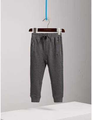 Burberry Drawcord Cotton Sweatpants