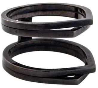 Repossi 18K Four Row Antifer Cocktail Ring Black 18K Four Row Antifer Cocktail Ring