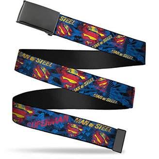 Buckle-Down Uni-Sex Adults Web Belt-Superman