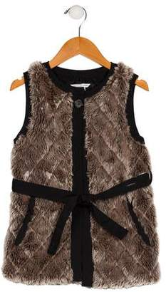Little Marc Jacobs Girls' Faux Fur Vest