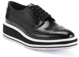 Prada Leather Brogue Platform Oxfords $895 thestylecure.com