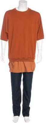 3.1 Phillip Lim Layered Short Sleeve Sweatshirt
