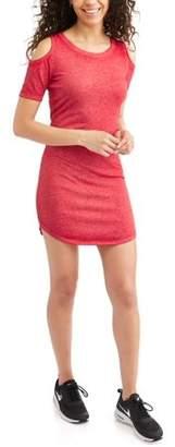 Derek Heart Juniors' Burnout Cold Shoulder Shirttail Hem Dress