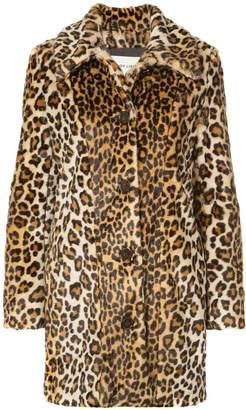 Sandy Liang Leopard print faux fur coat