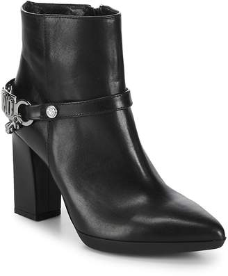 Love Moschino Women's Point Toe Leather Booties