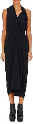 Rick Owens Women's Sleeveless Wrap Dress $1,030 thestylecure.com